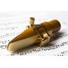 FL - Ligature - Soprano Saxophone - PURE BRASS /Gold/