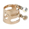 WOODSTONE - ALTO Saxophone Ligature - SOLID SILVER/PINK GOLD - Selmer