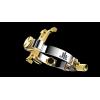 JLV - Ligature - Alto Saxophone - PLATINUM / GOLD - HR Mouthpieces