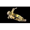 JLV - Ligature - Soprano Saxophone - BRUSHED BRASS - HR Mouthpieces