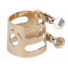 WOODSTONE - TENOR Saxophone Ligature - SOLID SILVER/PINK GOLD - Selmer