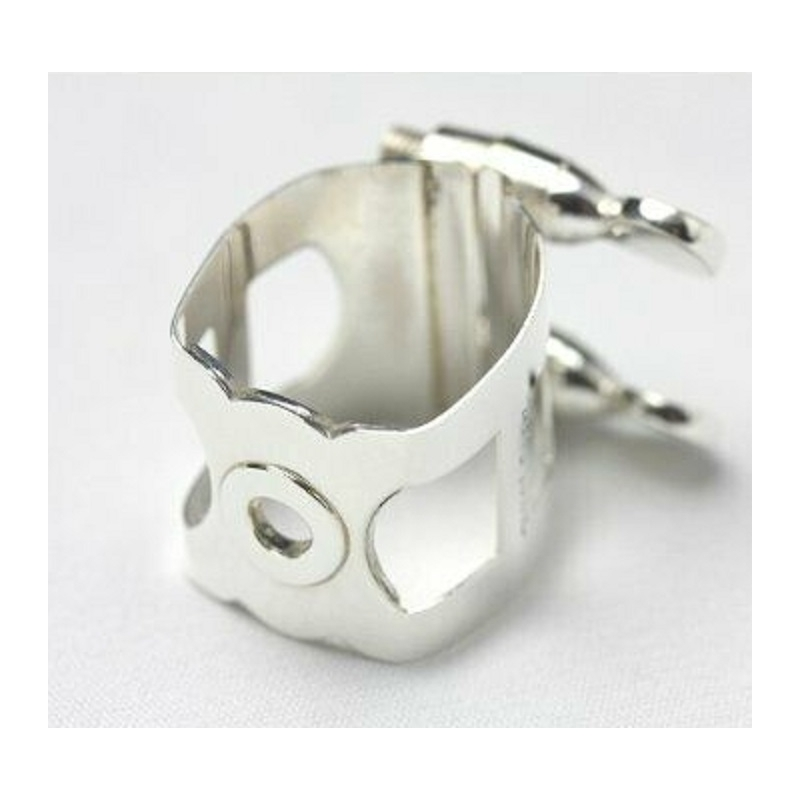 WOODSTONE - TENOR Saxophone Ligature - SOLID SILVER - Otto LInk L